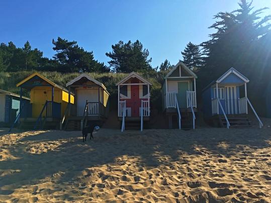 Beach huts on Holkham Beach, Norfolk