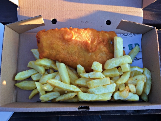 Gluten Free fish & chips at Eric's
